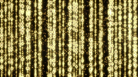 shining golden christmas beads seamless loop Animation
