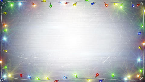 christmas lights frame loopable background 4k (4096x2304) Animation