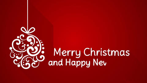 merry christmas and happy new year greeting 4k (4096x2304) Animation