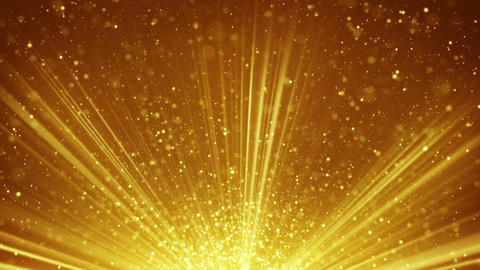golden light rays and particles loopable background Animation