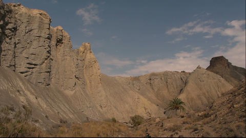 Panoramic to the right for the badlands Footage
