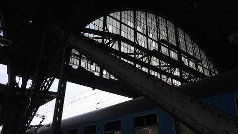 The Arched Ceiling Of A Metal At The Station. 4K stock footage