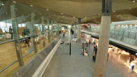 Pulkovo Airport In St. Petersburg. 4K stock footage