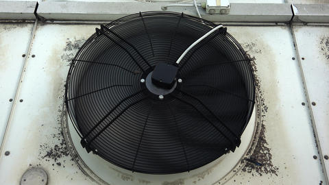 Fan the air conditioner. 4K Footage