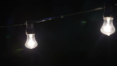 wire with light bulbs 2 Footage