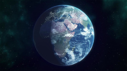 Earth Reveal stock footage