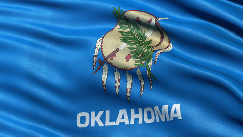 4K Oklahoma state flag seamless loop Ultra-HD Animation