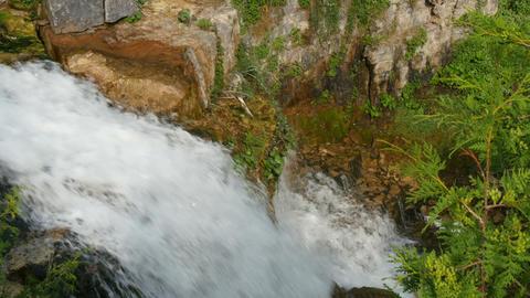 Small waterfall in ontario closeup Footage