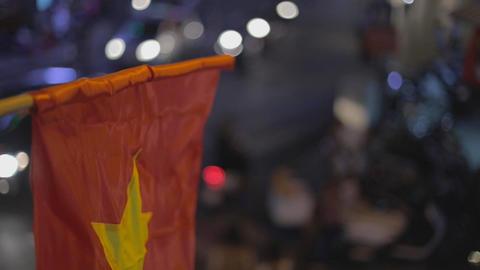 cinematic bokeh - vietnamese flag Footage