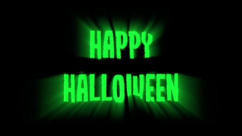 Happy Halloween Glowing Light Trailer stock footage