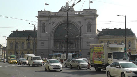 Eastern Railway Station in Budapest Hungary 1 Footage