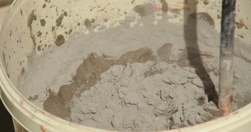 Construction. Mixing Solution. Close Up stock footage