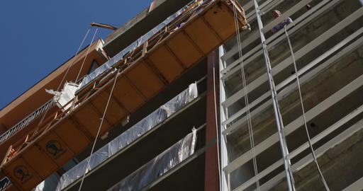Construction. Building. Construction Lift stock footage