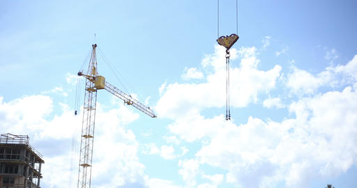 Construction. Crane against the sky Footage