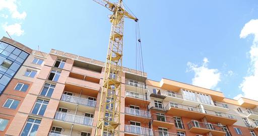 Construction. Building. Crane Footage