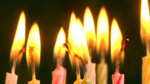 birthday candles Footage