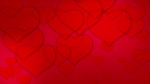 valentine's hearts background loop Animation