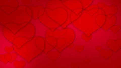 valentine's hearts background loop Animation