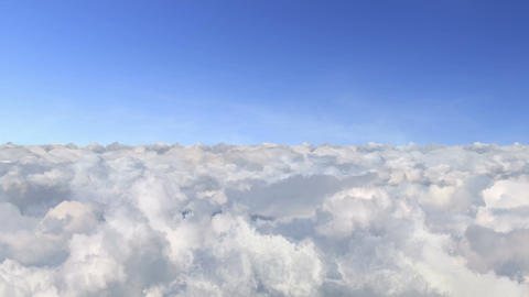 Loopable flight above the clouds Footage
