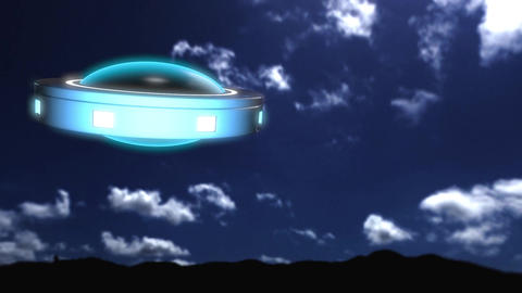 UFO Shapeshifting Animation Super HD Stock Video Footage