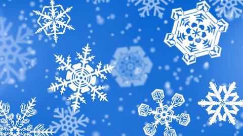 christmas snowflakes background, Stock Animation