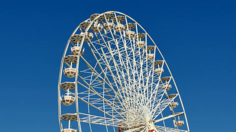 Great Classical Fair Ferris Wheel In Toulouse 4k Footage