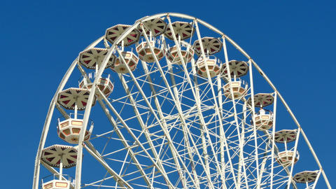 Tall Classical Fair Ferris Wheel In France 4k Footage