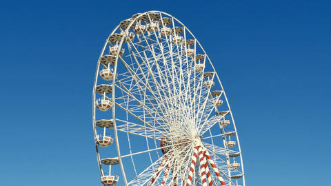 Huge Classical Fair Ferris Wheel In France 4k Footage
