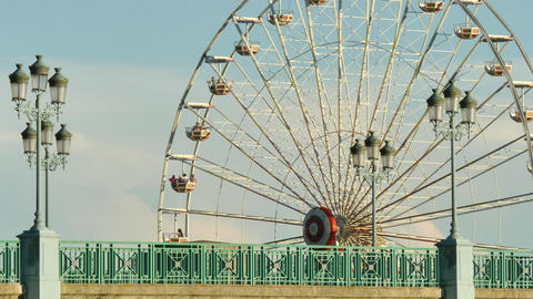 Classical Fair Ferris Wheel In France Live Action