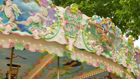 Classical Pretty Modern Carousel in France Live Action
