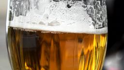 glass of beer - detail Footage