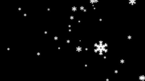 Snow Fall Animation with Alpha Channel Animation