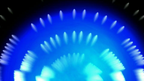 whirl fiber optic and bubble,blue cable rays laser light in space Animation
