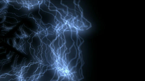 blue lightning,power electromagnetic energy field Stock Video Footage