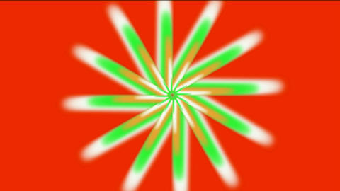 whirl rotation gear & flower pattern,laser light rays in... Stock Video Footage