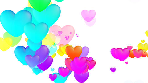 Colorful Heart Fhw2 HD Stock Video Footage