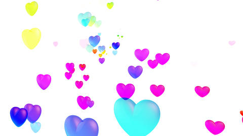 Colorful Heart Rhw2 HD Stock Video Footage