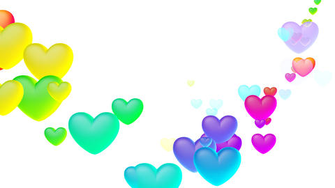 Colorful Heart Shw2 HD Stock Video Footage