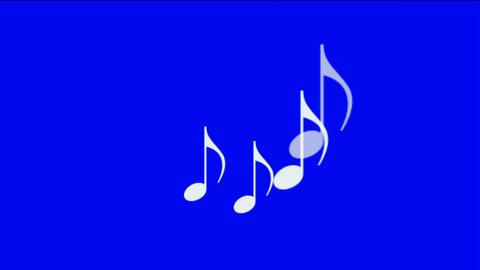 music notes,treble clef Animation