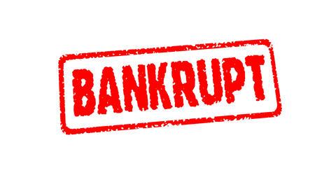 Stamp BANKRUPT Stock Video Footage