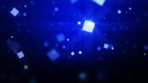 Blue Moving Particles Loop HD Animation