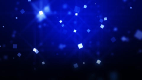 Blue Moving Particles Loop HD Stock Video Footage