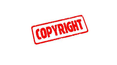 Stamp COPYRIGT, Stock Animation