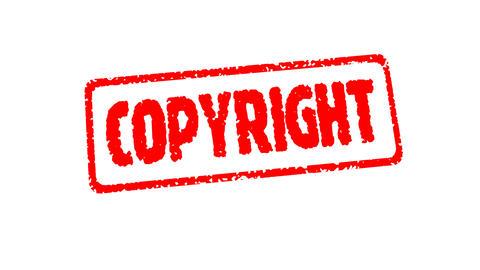 Stamp COPYRIGT Stock Video Footage
