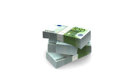 Falling Euro (HD + Alpha) Stock Video Footage