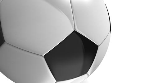 soccer ball on white Stock Video Footage