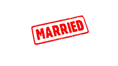 Stamp JUST MARRIED Stock Video Footage