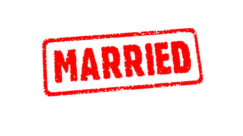 Stamp JUST MARRIED Animation