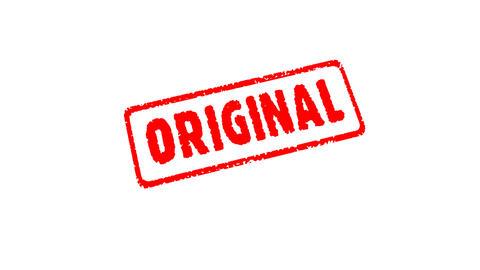 Stamp ORIGINAL Stock Video Footage