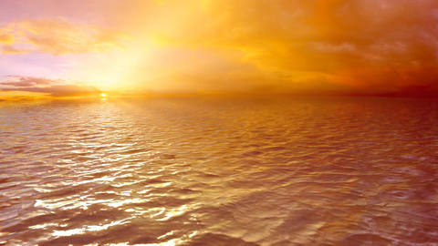 Looped Sea Sunset (HD) Animation